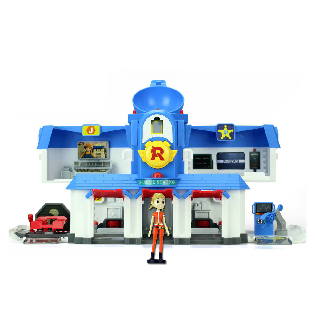 Silverlit  Robocar Poli - Transformerend Hoofdkwartier, Blauw