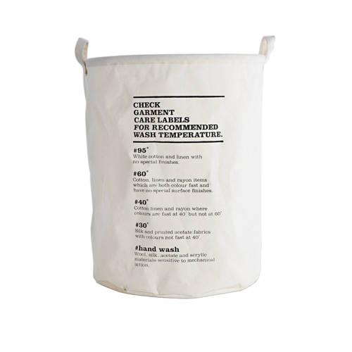House Doctor mand Wash Instructions (Ø40 cm) kopen