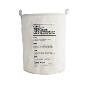 mand Wash Instructions (60 liter) Crème/zwart