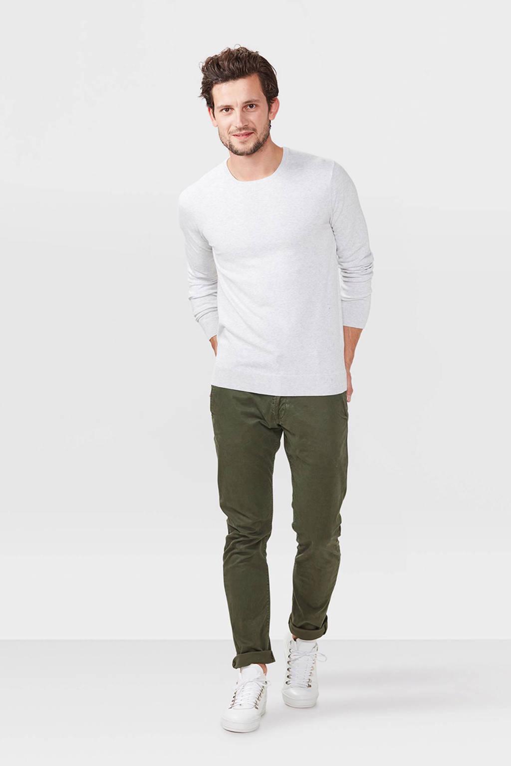 WE Fashion Fundamental trui, White Melange