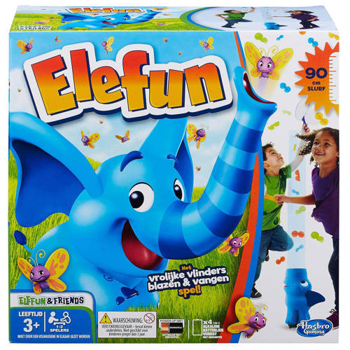 Hasbro Gaming Elefun het vrolijke vlinders blazen & vangen spel kinderspel