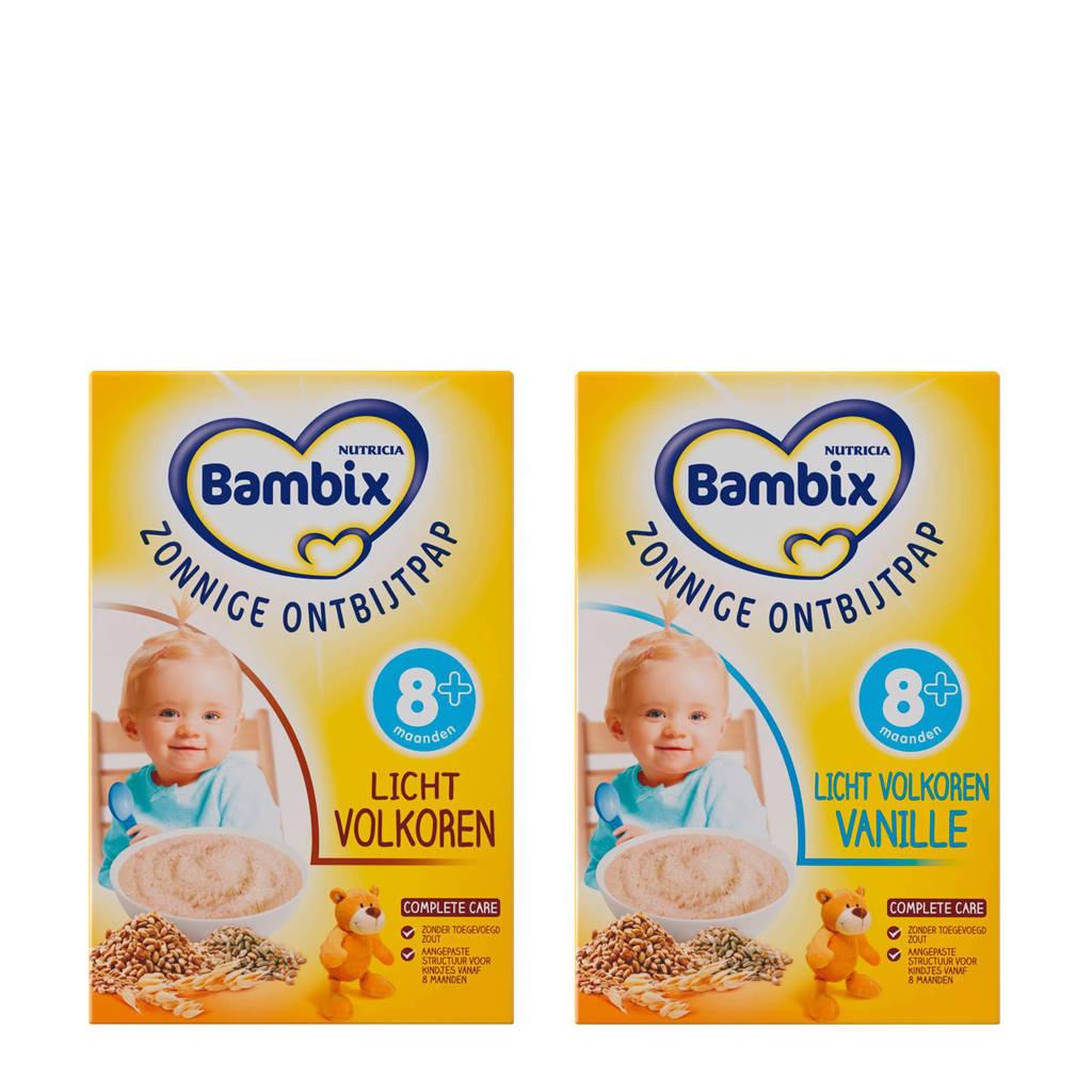 Bambix zonnige ontbijtpap - licht volkoren + licht volkoren vanille