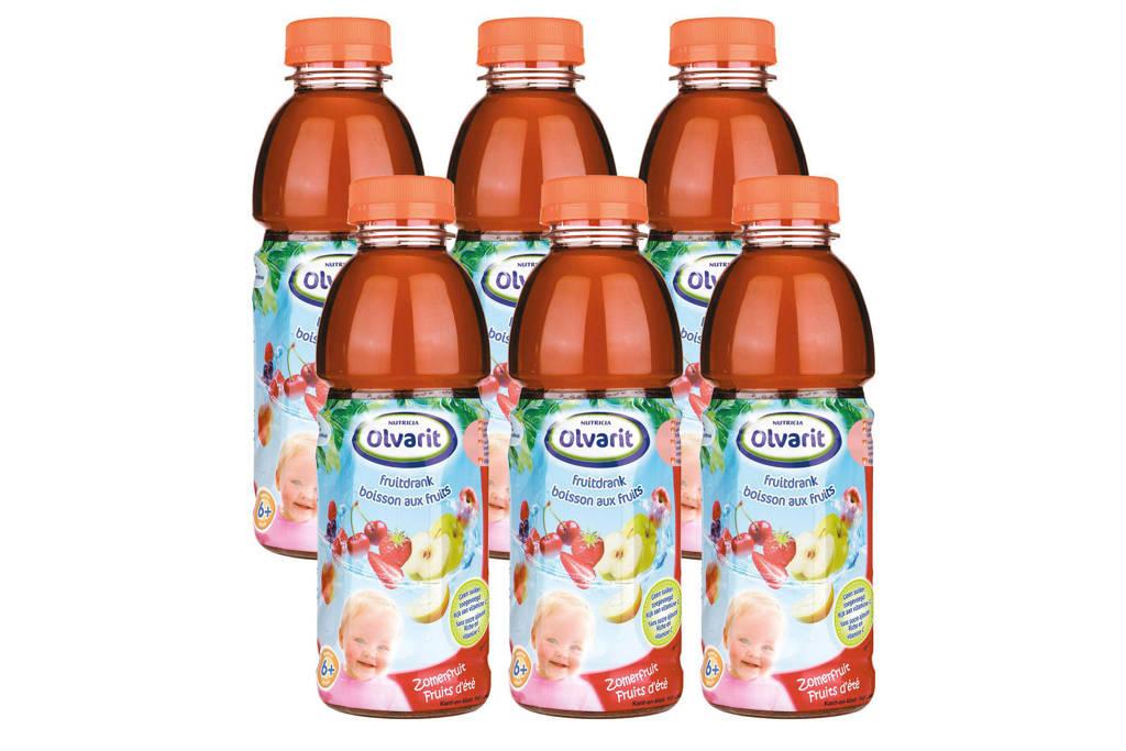Olvarit Drinkfruit zomerfruit - 6 x 500 ml