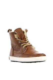 Blackstone hoge leren sneakers bruin