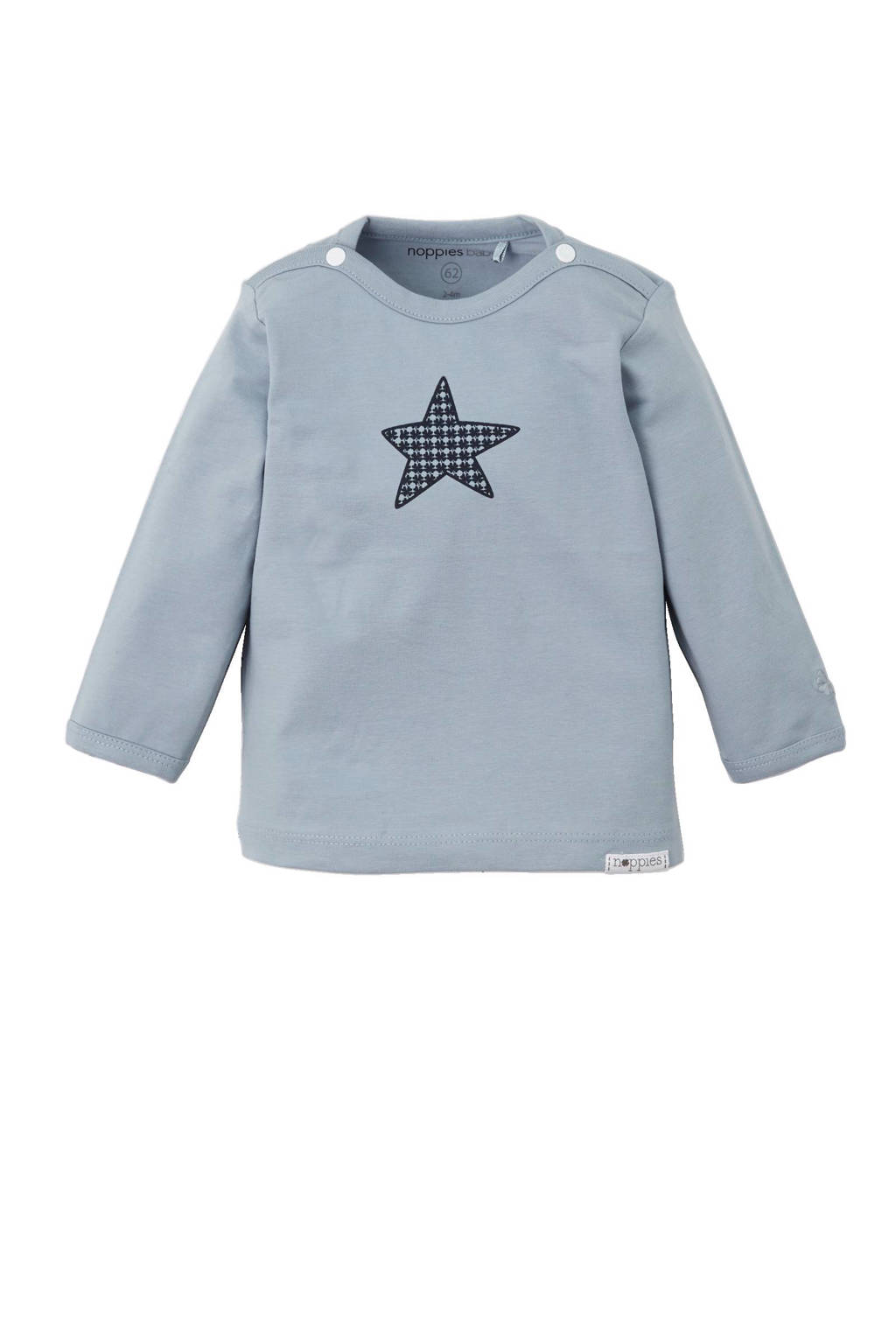 Noppies newborn baby longsleeve Grey blue, Blauw