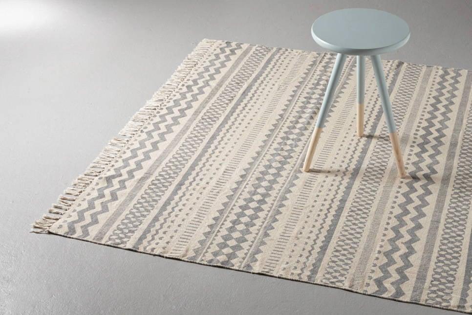 whkmp's own vloerkleed  (230x160 cm), grijs/off white
