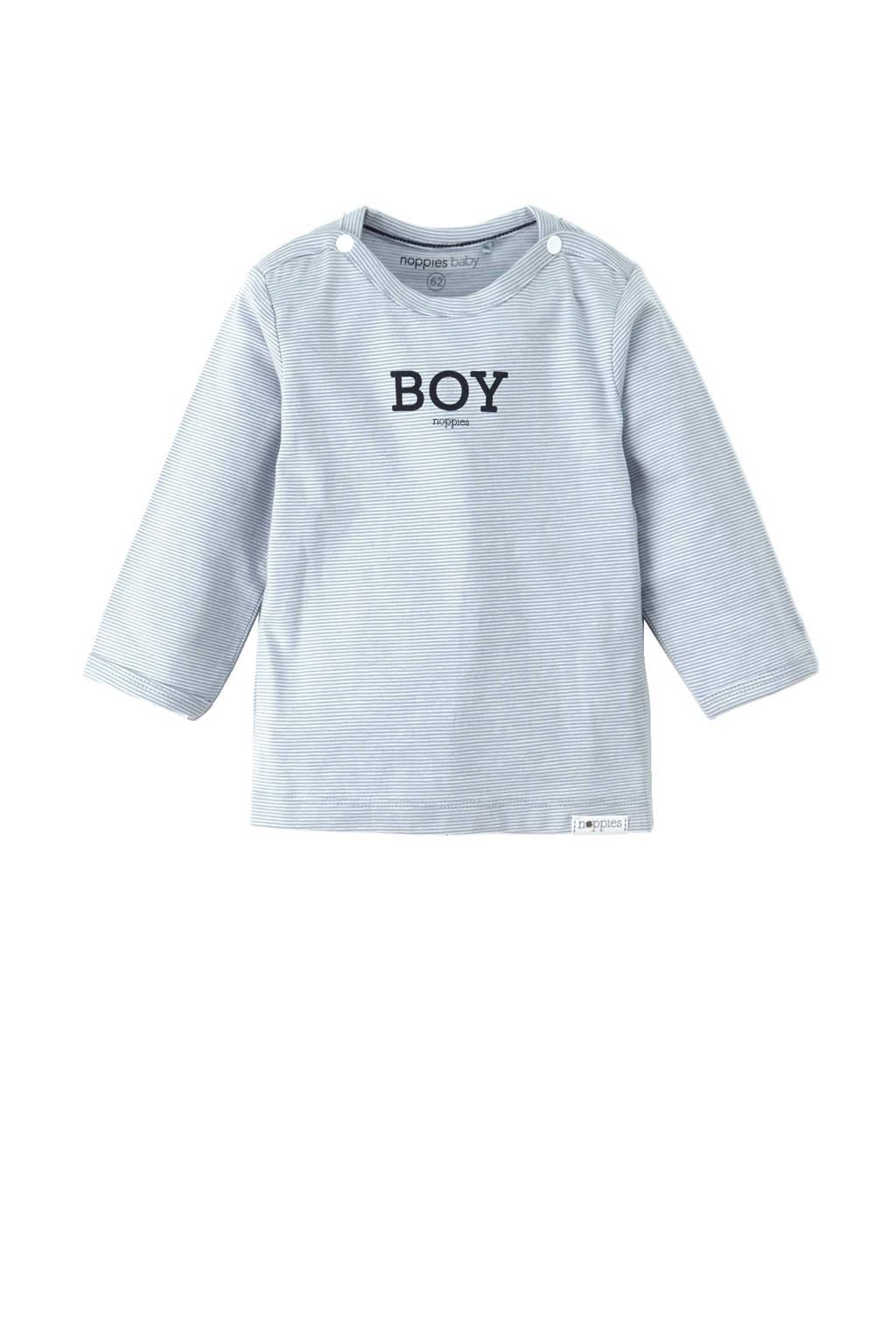Noppies newborn baby longsleeve Grey blue, Blauw