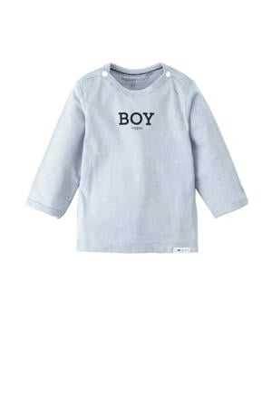 newborn baby longsleeve Grey blue