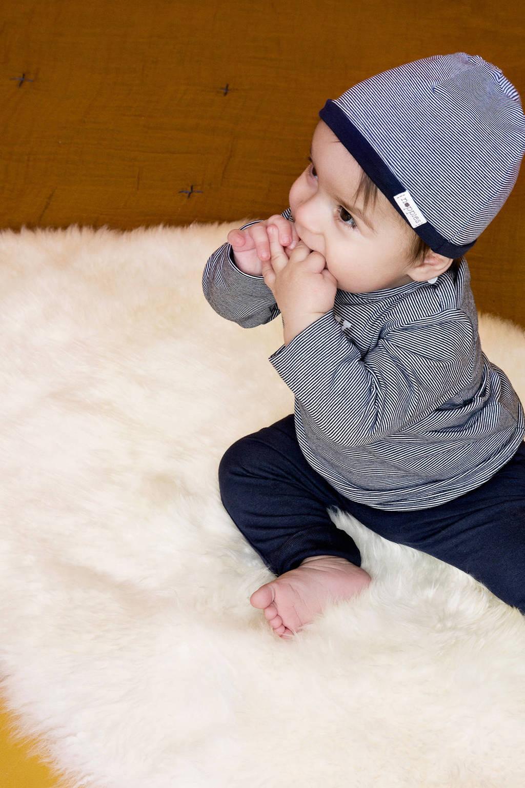 Noppies newborn baby longsleeve, Donkerblauw