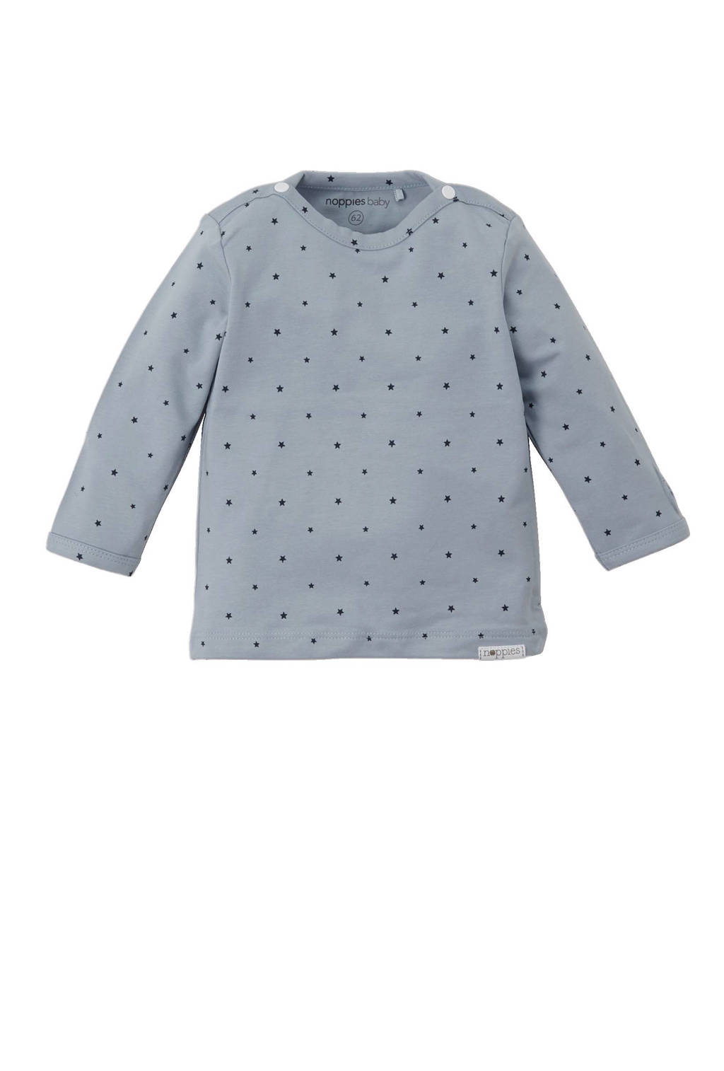 Noppies newborn baby T-shirt, Blauw