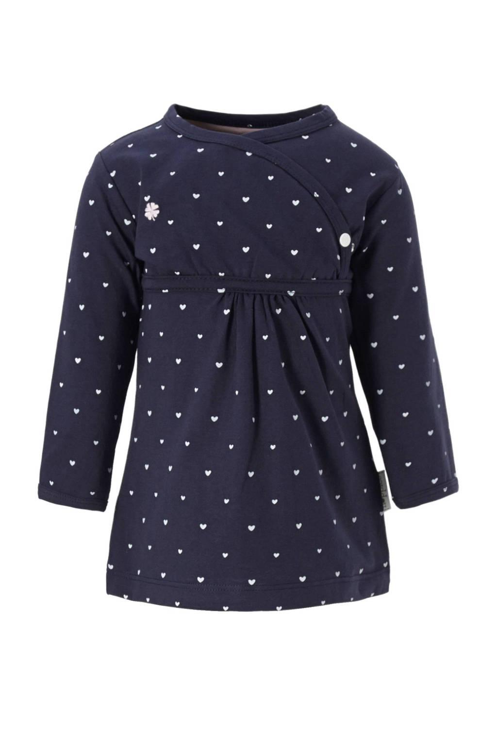 Noppies newborn baby jurk, Donkerblauw
