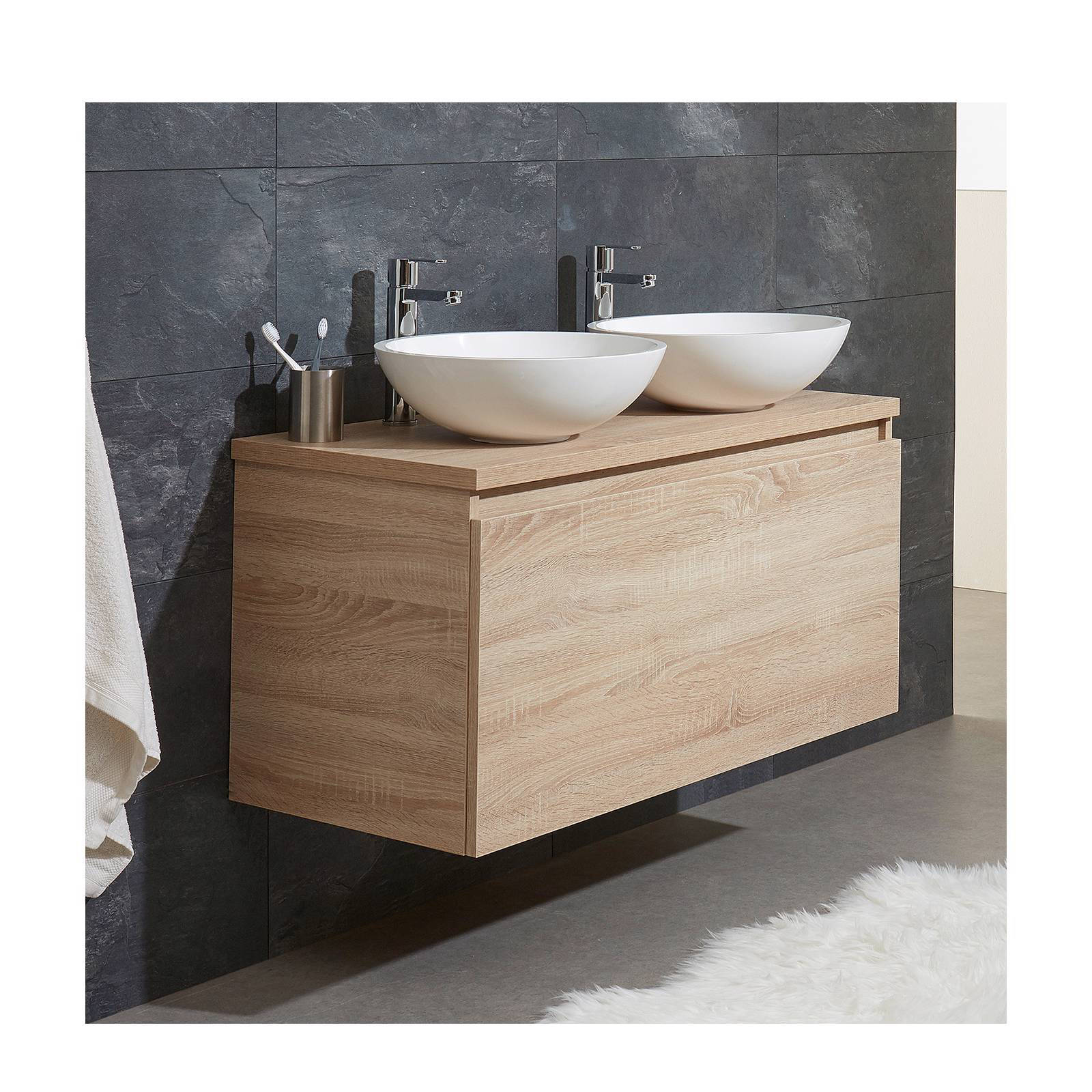 Nieuw Bruynzeel sanitair badkamermeubel met dubbele waskom Nerano 100 OT-03