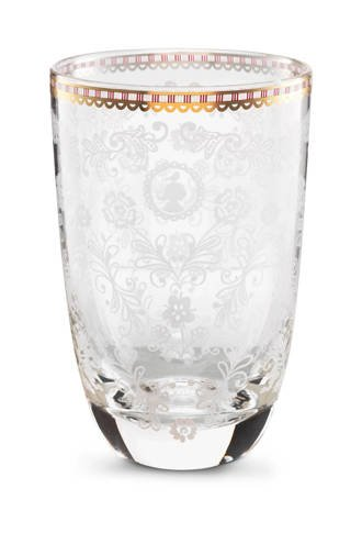 Floral longdrinkglas (Ø8 cm)