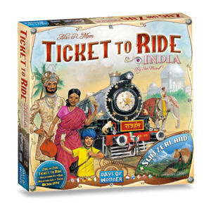 Ticket to Ride India+Zwitserland uitbreidingsspel
