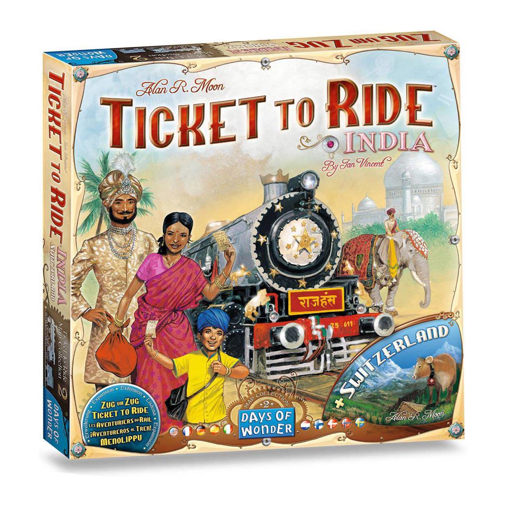 Days of Wonder Ticket to Ride uitbreidingsset India/Zwitserland Uitbreidingsspel