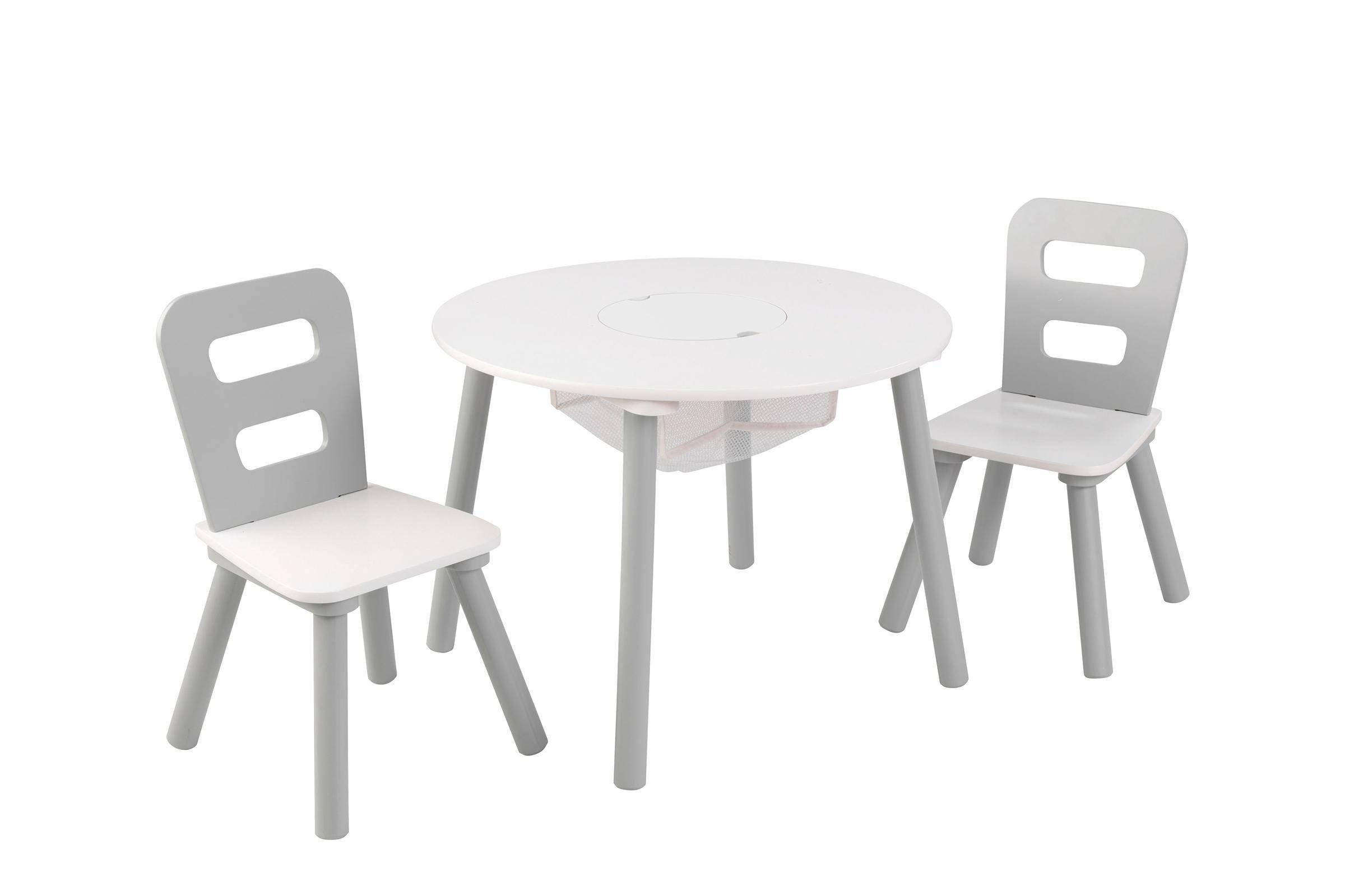 Kidkraft houten ronde opbergtafel en stoelen wehkamp