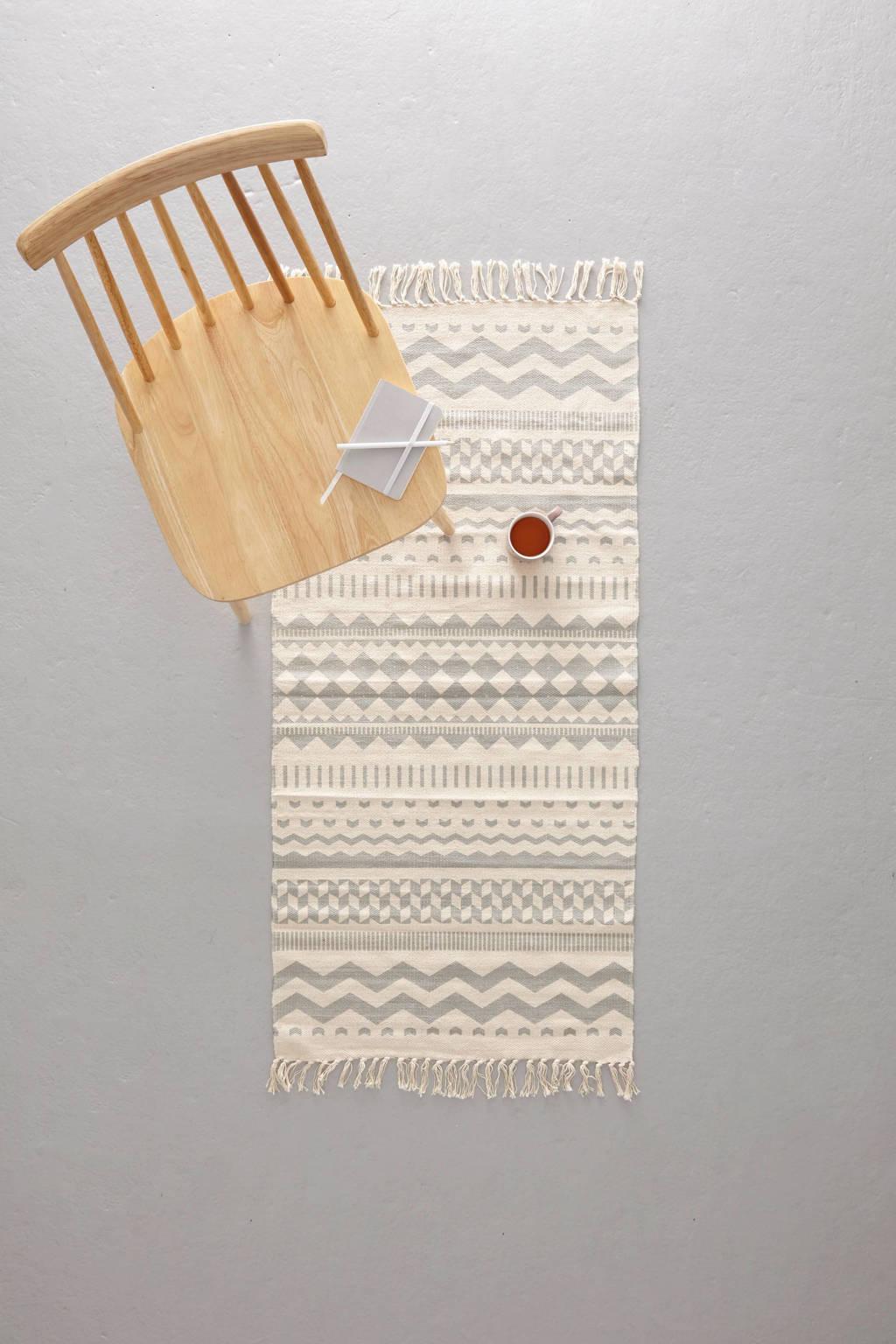 whkmp's own vloerkleed   (120x60 cm), grijs/off white