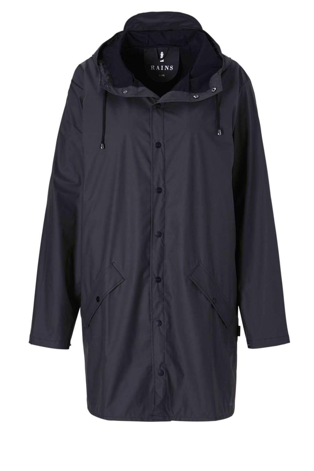 Rains Long Jacket regenjas, Donkerblauw