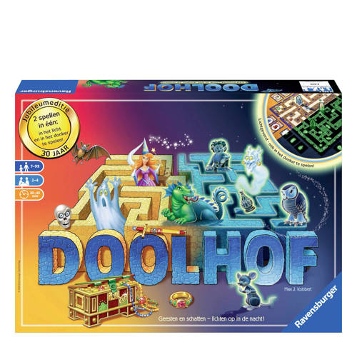Ravensburger gezinsspel 30th anniversary edition of Doolhof Glow in the Dark