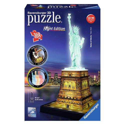 Ravensburger Statue of Liberty nachteditie 3D puzzel 108 stukjes kopen