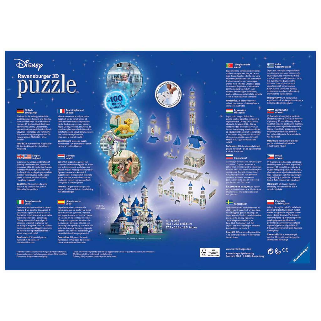 Castle Excellent Tuinmeubelen.Ravensburger Disney Castle 3d Puzzel 216 Stukjes Wehkamp