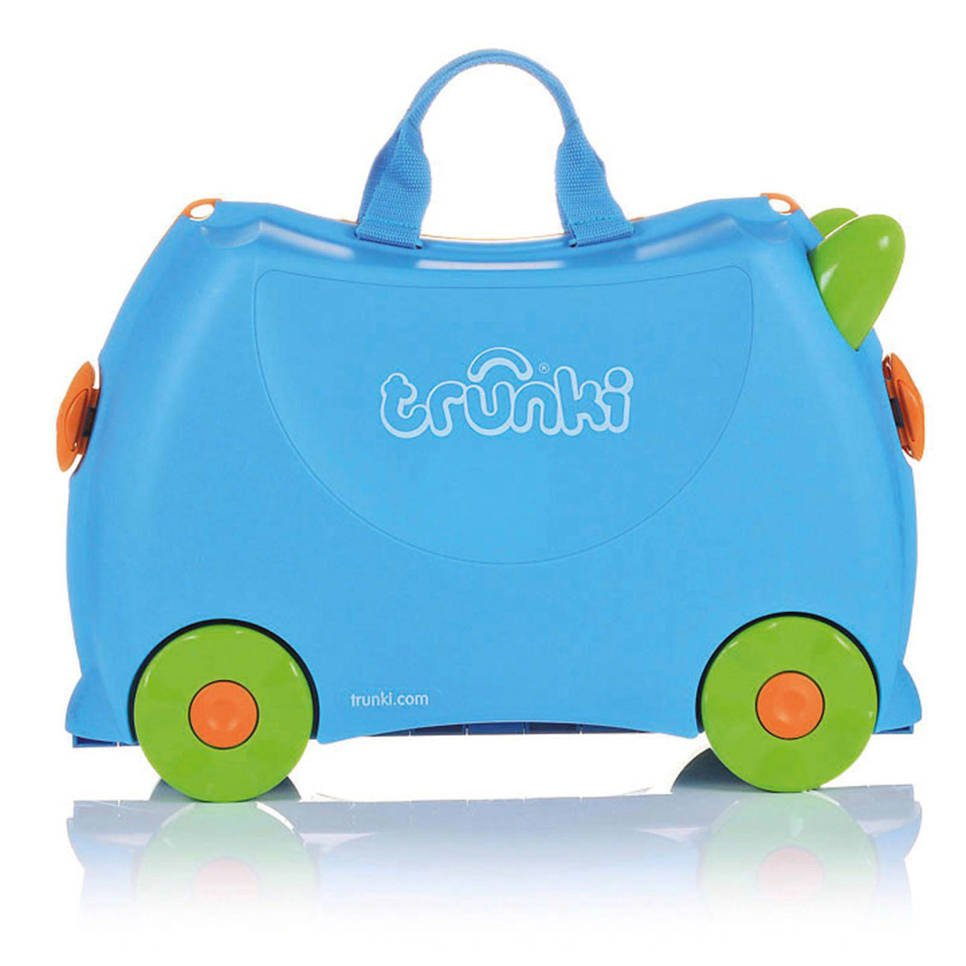 Trunki Ride-on kinder koffer Terrance blauw, Blauw