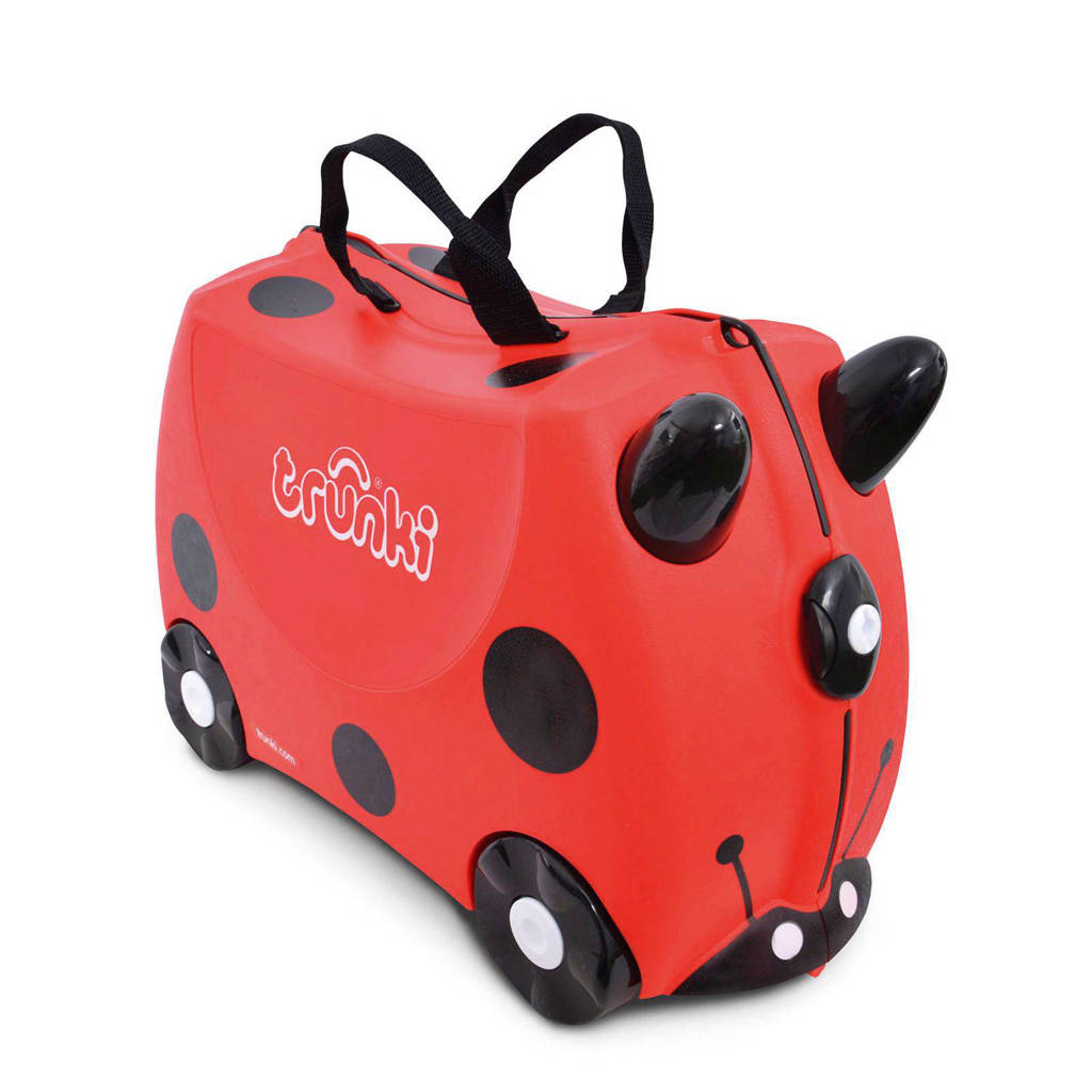 Trunki Ride-on kinder koffer Lieveheersbeestje Harley rood, Rood