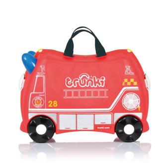 Ride-on kinder koffer Brandweerwagen Frank rood