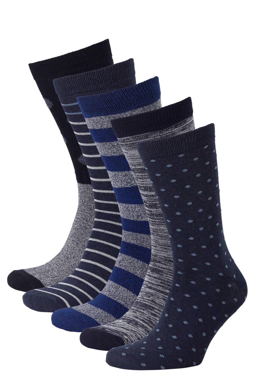 Apollo sokken (5 paar), Navy