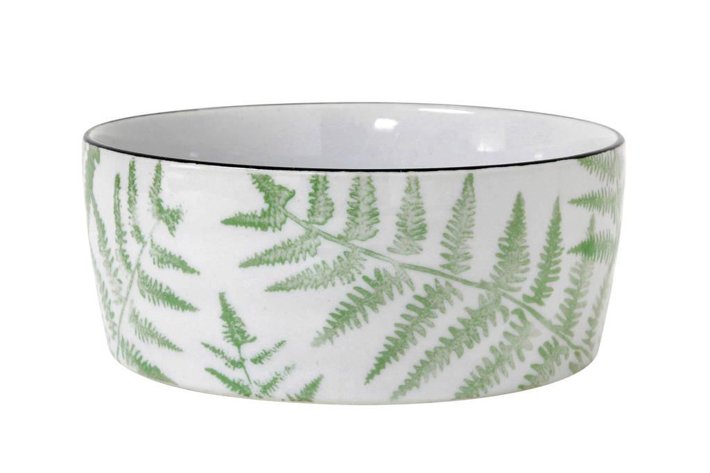 HKliving Jungle kom (Ø14,5 cm), Lichtgroen/wit