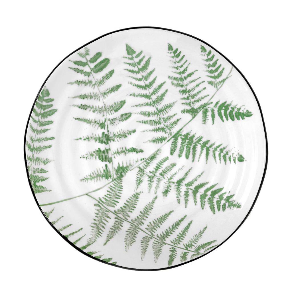 HKliving Jungle serveerbord (Ø26,5 cm), Lichtgroen, wit
