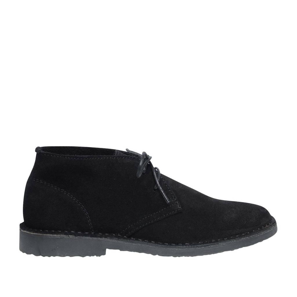 Sacha   suède desert boots zwart, Zwart