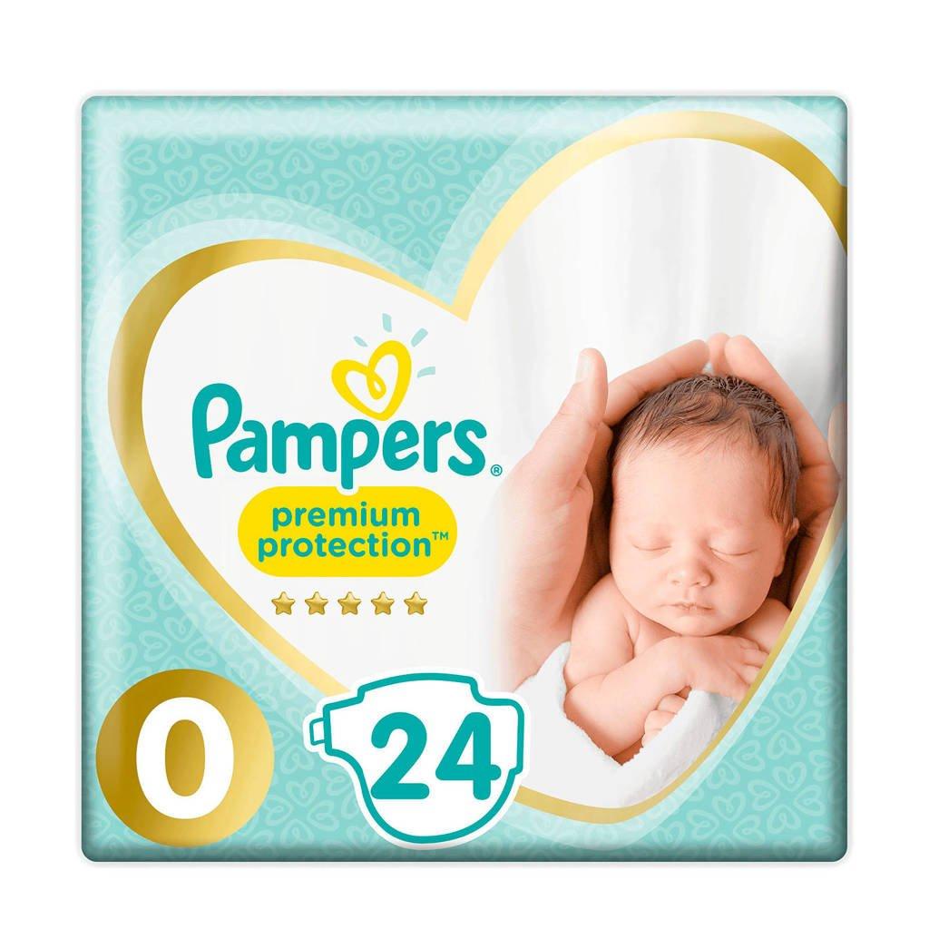 Pampers Premium Protection maat 0 (1,5-2,5 kg) 24 luiers