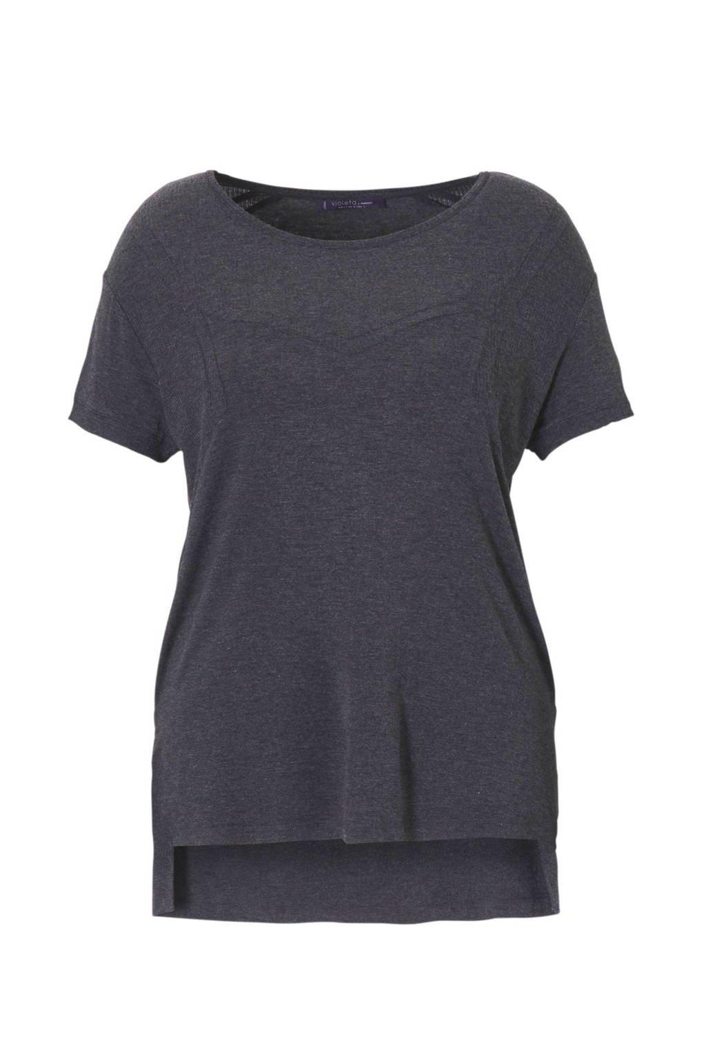 Violeta by Mango T-shirt, Grijs melange
