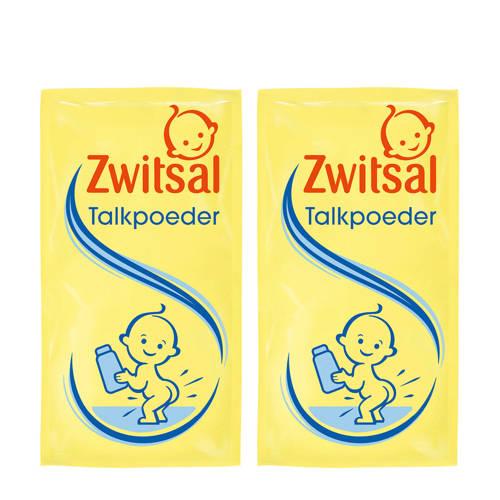 Zwitsal talkpoeder navulling - 2x100 g - baby
