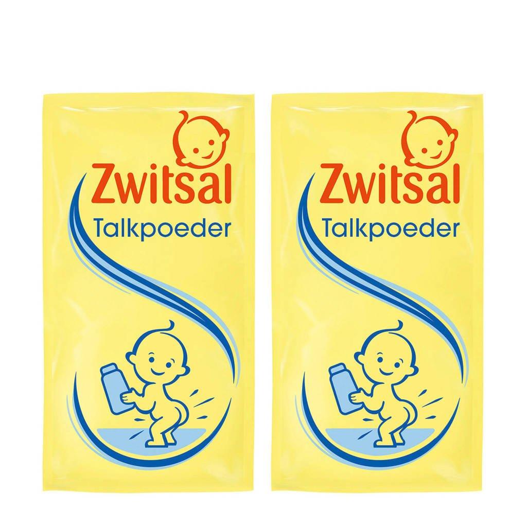 Zwitsal talkpoeder navulling - 2x100 g - baby, 2 x 100 gram