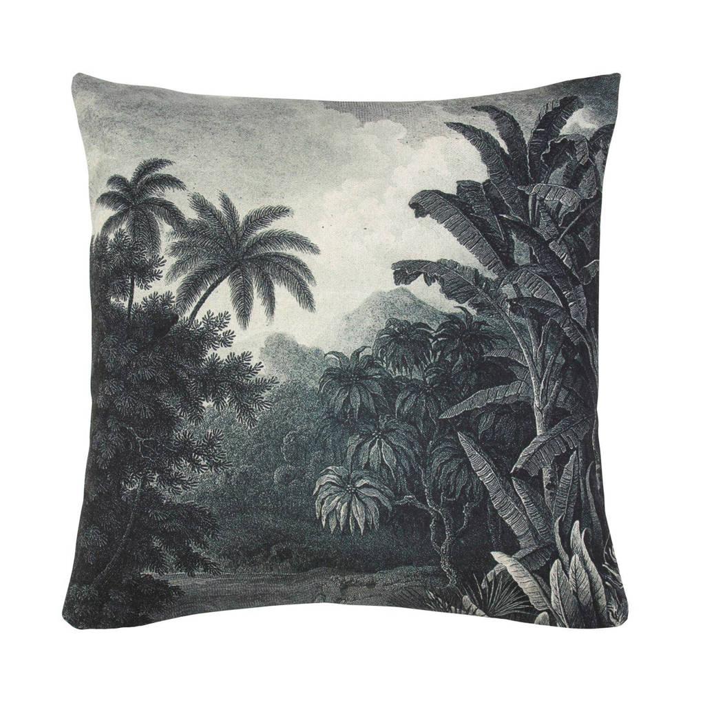 HKliving sierkussen Jungle (45x45 cm), Zwart/wit