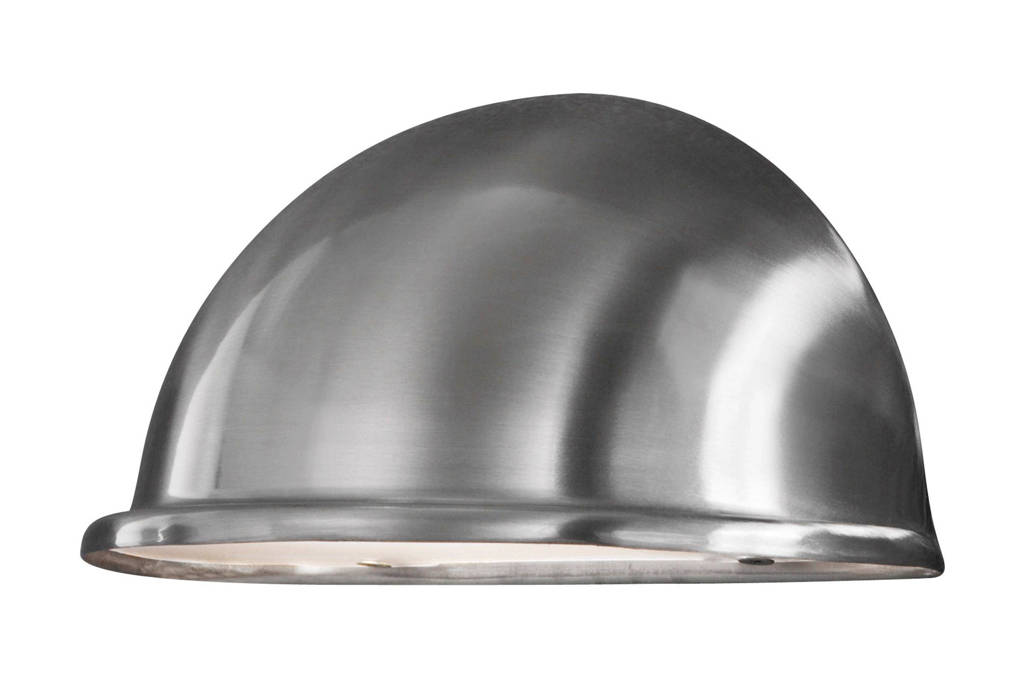 Konstsmide wandlamp Torino (M), RVS/zilver