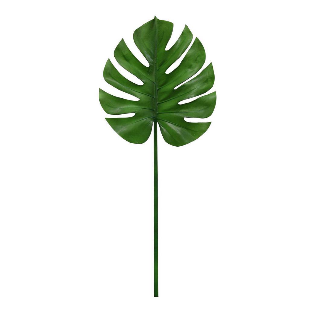 HKliving kunstplant Monstera Blad, Groen