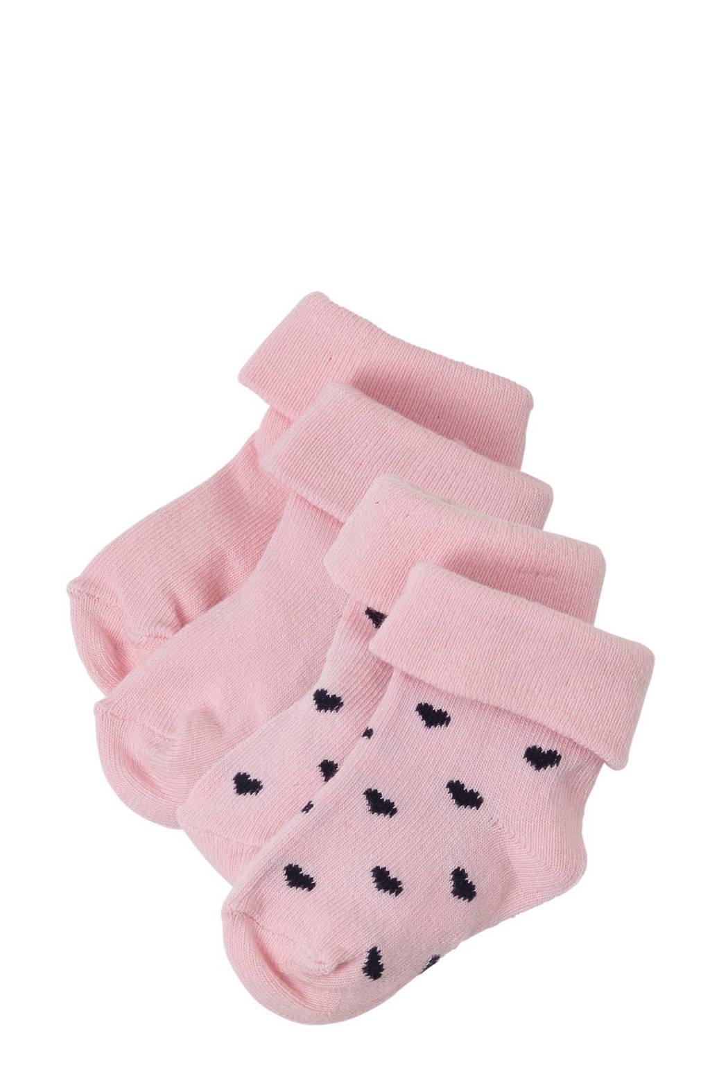 Noppies  baby sokken  Naples -set van 2 roze, Lichtroze