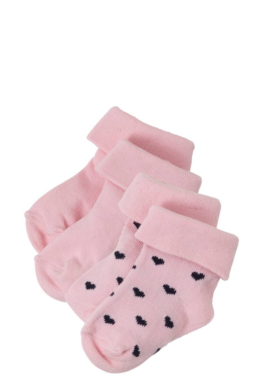 Noppies Naples baby sokken (set van 2), Lichtroze