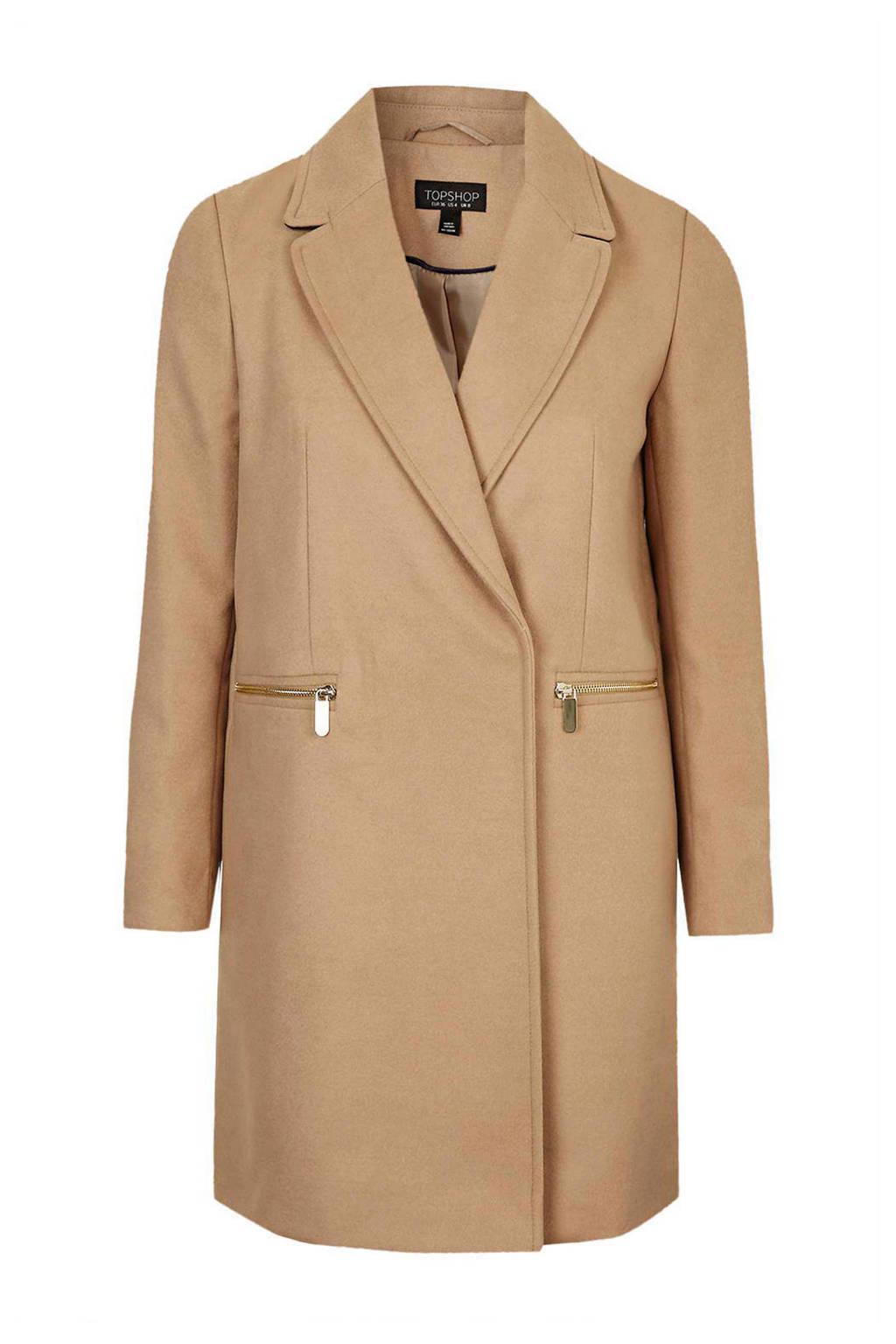 Topshop coat, Camel