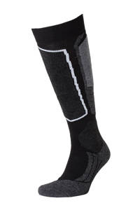 FALKE skisokken SK2 met merinowol, Zwart, grijs