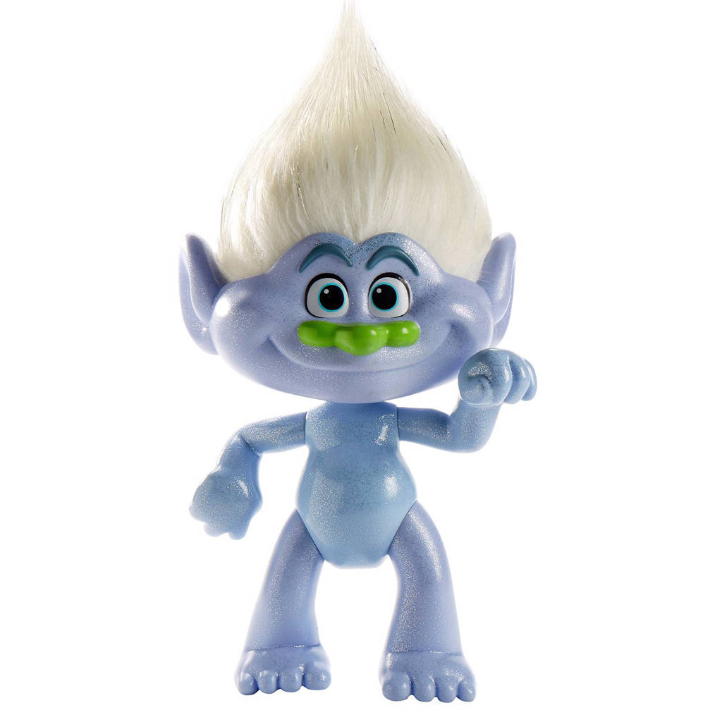 Trolls  glitteriffic guy diamond 40 cm, Blauw