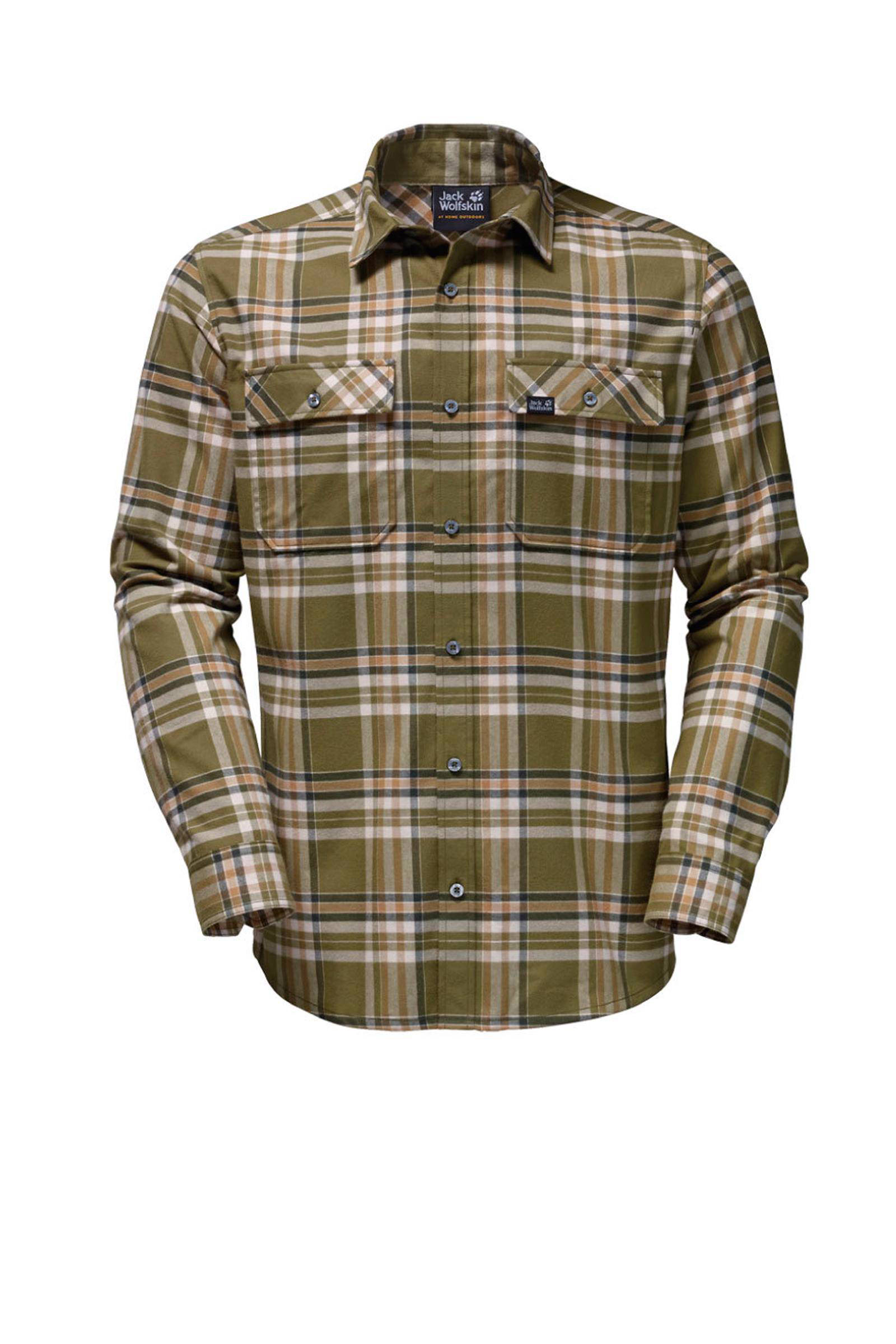 flanellen Jack Wolfskin Valley overhemd outdoor AwT6qx