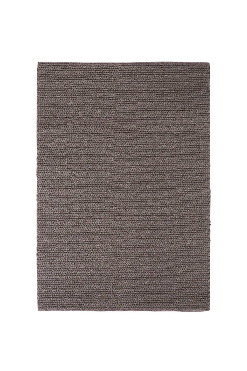 whkmp's own vloerkleed (100% wol)  (230x160 cm), Bruin/ecru gemêleerd