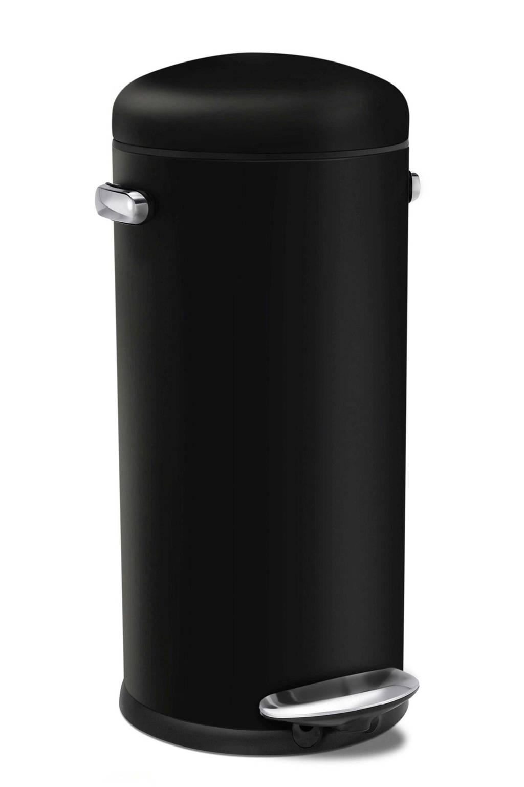 Simplehuman Retro Pedaalemmer 30 L Rvs.Sh011011 Pedaalemmer 30 Liter
