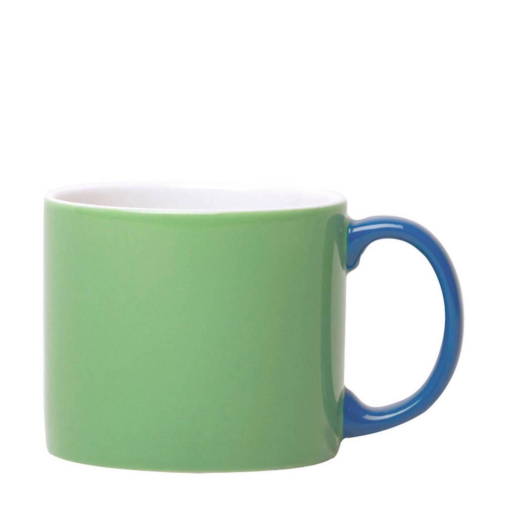 Jansen+Co mok XL (Ø9 cm), groen, blauw