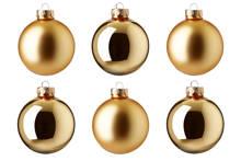 Glazen kerstballen (Ø 8cm) (set van 6)