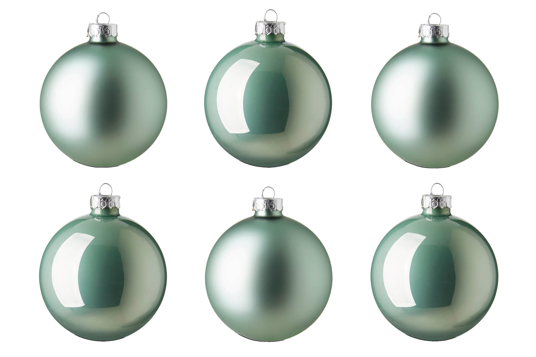 Kaemingk Glazen kerstballen (Ø 8cm) (set van 6)